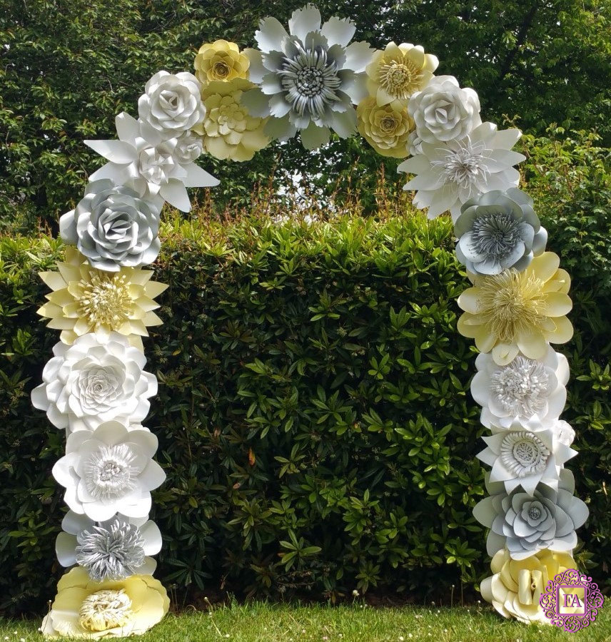 How To Make An Arch Of Paper Flowers Wedding Decorations Master